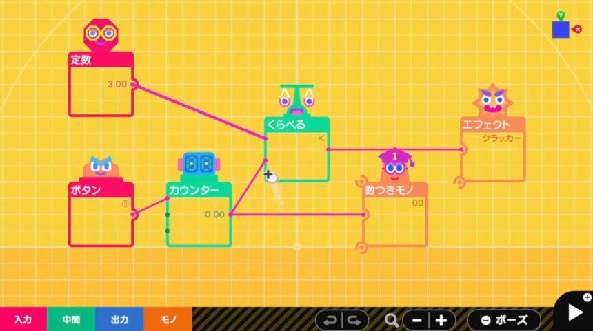さらに複雑な仕組みをくらべるノードンで作る