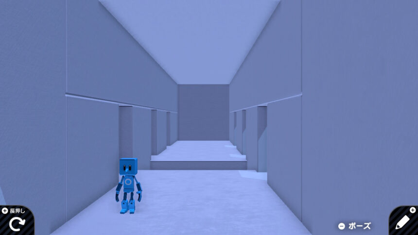 扉に入らないと進めない廊下