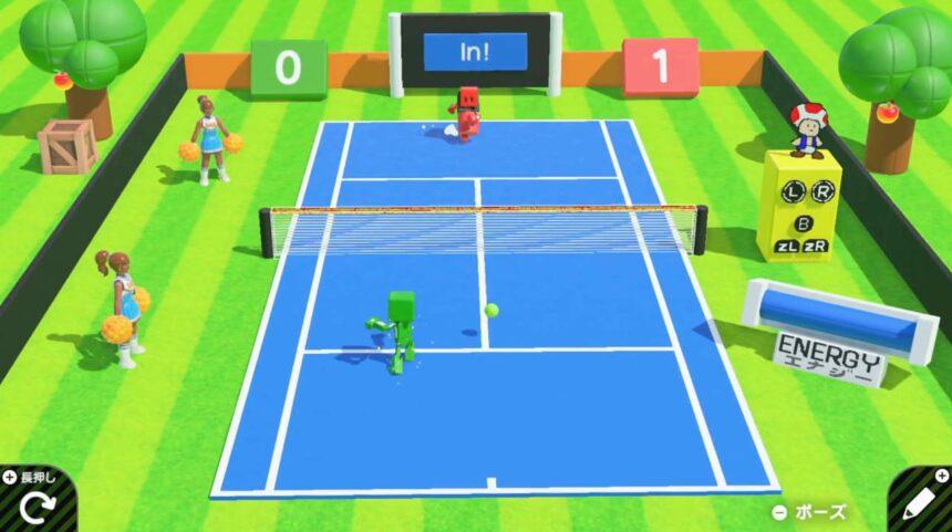 Tennis v1.0のゲーム画面