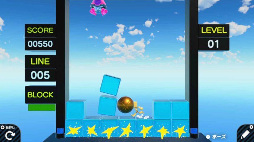 ツルテト(判定ガバガバver)のゲーム画面