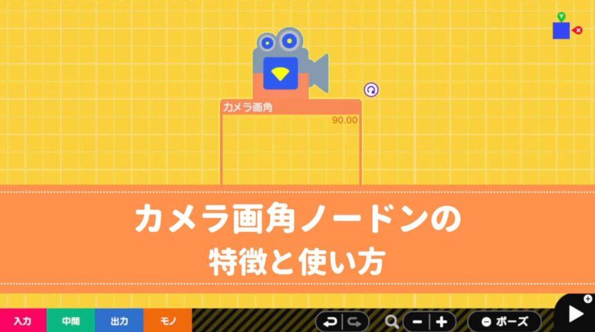 カメラ画角ノードンの特徴と使い方